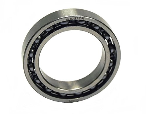 Shuster 6805 Deep Groove Ball Bearing, Single Row, Open, Normal Clearance, ABEC 1 Precision, 37 mm Height, 7 mm Width, 37 mm Length, 25 mm ID, 37 mm OD, High Carbon Chrome Bearing Steel