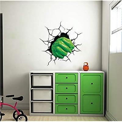 Wall Decals Hulk Home Decor - Hulk Fist Avengers Smash Wall Art Kids Bedroom Marvel Wall Decor Superhero Sticker Removable Wallpaper Nursery Art, s39: Clothing