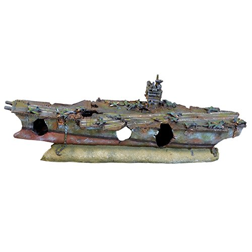 Underwater Treasures 65246 Royal Aircraft Carrier Aquarium Ornament
