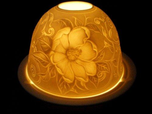 Heckenrose Motifs Flowerpower Lanterne photophore en Porcelaine pour Bougie Chauffe-Plat Chaozhou Porcelain Factory