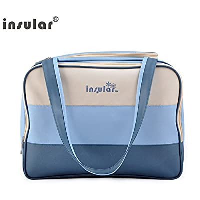 Insular Baby diaper bags - Multi functional Baby Diaper Shoulder Bag - Weekender Tote - Nappy Changing Stroller Organizer (Blue) by Thailand that we recomend individually.