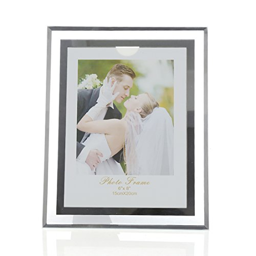 - Zhenzan Frames 6x8-inch Glass Picture frame for Home Decor,Horizontal or Vertical Display
