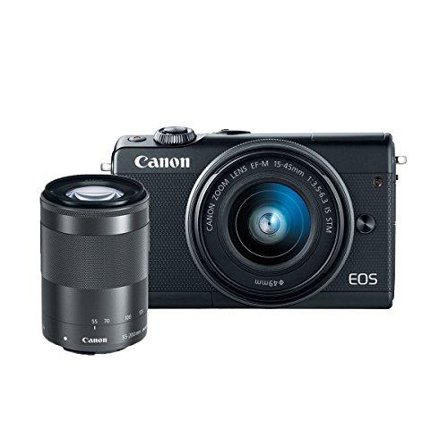 Canon EOS M100 Mirrorless Camera w/ 15-45mm Lens & 55-200mm Lens - Wi-Fi