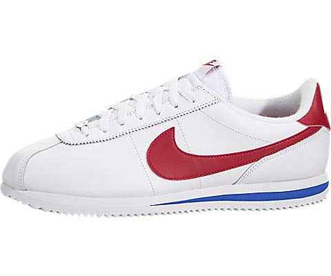 NIKE Men's Cortez Basic Leather OG Shoe White/Varsity/Red