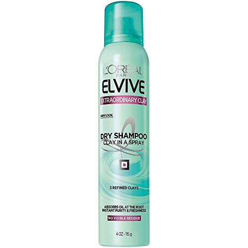 L'Oréal Paris Elvive Extraordinary Clay Dry Shampoo, 4 oz. (Packaging May Vary) (Best Shampoo For Oily Roots And Dry Ends)