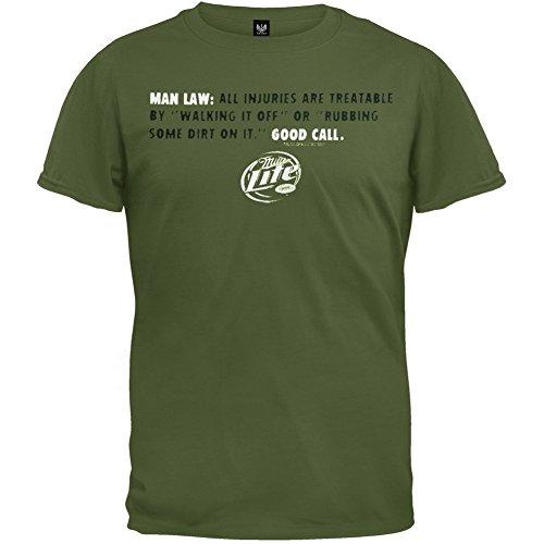 Miller Lite - Man Law Soft T-Shirt - Large (Lite Merchandise Miller)