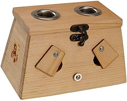 Caja de madera sólida moxibustión moxibustión caja for mecanismos de madera Moxa quemador acupuntura masaje en los puntos de calidad superior (Color : B): Amazon.es: Salud y cuidado personal