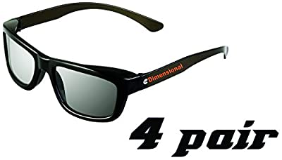 ED 4 Pack Passive Theater Circular 3D Glasses For Vizio 3D TVs – Adult Sized