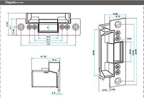 ... dactilar RFID EM-ID Card Sistema de control de acceso Kit con Falla Secure Strike bloqueo y fuente de alimentación y salida de sensor de movimiento ...