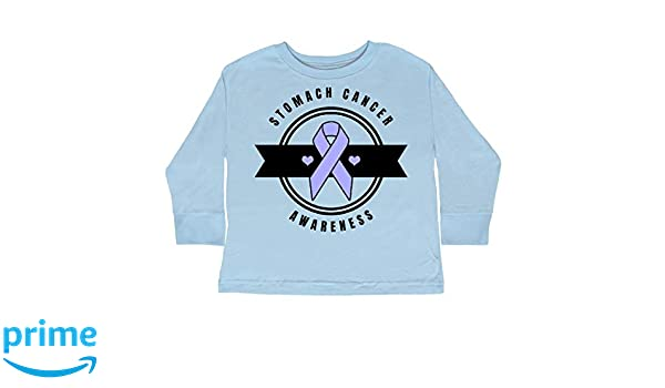 6638aa585ba2 Amazon.com  inktastic - Stomach Cancer Toddler Long Sleeve T-Shirt 2T Light  Blue 32a76  Clothing