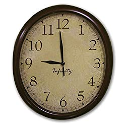 Manufacturers' Select ITC 10 by 12 Infinity Quartz Oval RV Wall Clock (Truffle with Crackle Face)