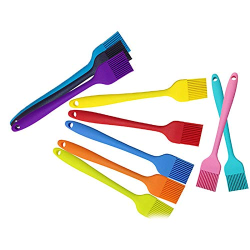 Shoppy Star TIMEMORE Silicone Kitchenware Integrated Silicone Brush Food Brush High Temperature Oil Brush Barbecue Many Colors Brush: res ()