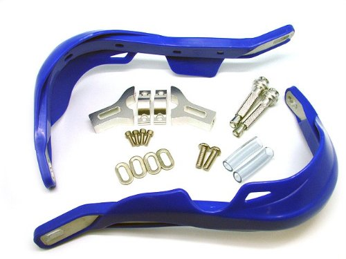 TMS Blue Handlebar Hand Brush Guards for Honda Motocross Off-road ATV Dirt Bike Dualsport Motorcycle MX XL XR CRF 200 250 350 400 450 500 600 650 (Honda Dual Sport)