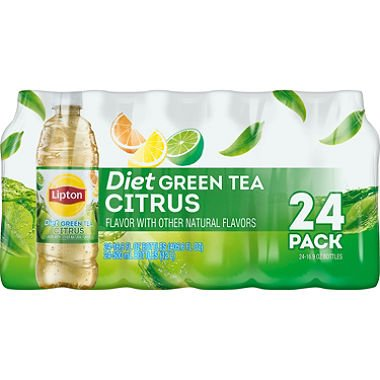 Lipton Diet Green Tea with Citrus ( 16.9 oz. bottles, 24 pk.) (pack of 6)