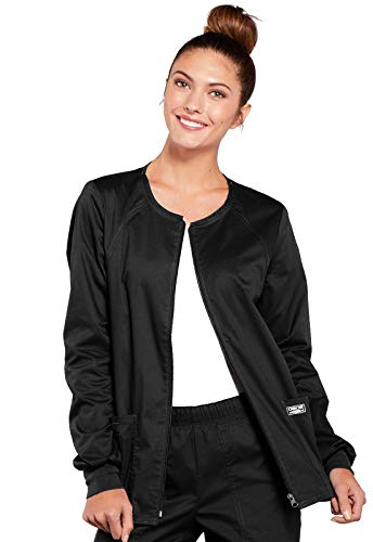 55 Days Until Halloween (CHEROKEE Women's Workwear Core Stretch Warm Up Scrubs Jacket, Black,)