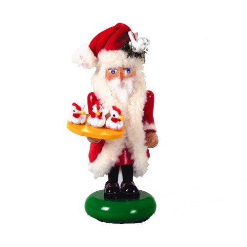 Steinbach 12 Day Of Christmas - Kurt Adler Steinbach 5.75-Inch German Nutcracker Twelve Days of Christmas, Mini Part 2 Santa