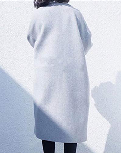 Winter Thick Classics Down Fall Woolen Collar Womens Turn XINHEO Grey Coat FfxUqPB