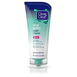Clean & Clear Deep Action Cream Cleanser For Face, 6.5 Oz. (Pack of 2)