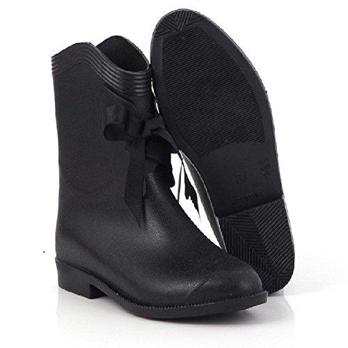 pioggia modo signore casuale di stivali black da XUwBpq