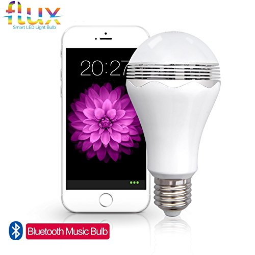 Flux™ Blast - LED Light Bulb With Bluetooth Speaker - Cool White (6000K) - 40 Watt Equivalent (6W) A19 Bulb - Works with Apple iPhone, iPad and Android Phone