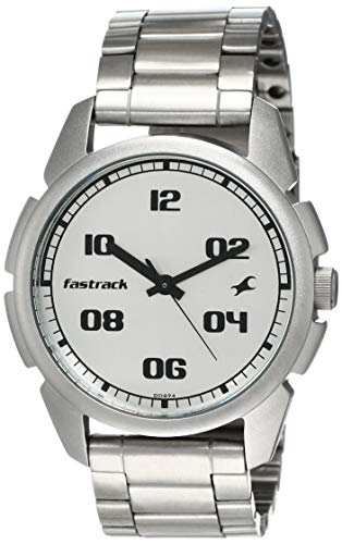 Fastrack Casual Analog Silver Dial Men's Watch -NL3124SM01