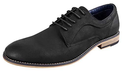 Ferro Aldo Mens Walton Oxford Dress Shoes | Comfortable Dress Shoes | Formal | Lace-Up | Classic Design W-Black 10.5 D(M) US