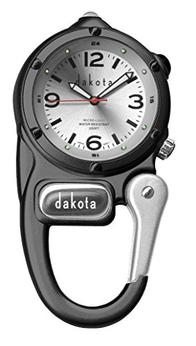 Dakota Watch Company Mini Clip with Microlight Dial, Black/Silver (Mini Clip Watch Dakota)