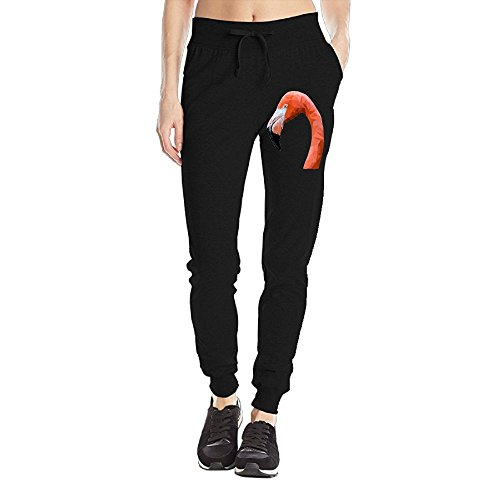 Losport Women's Flamingo Polygon Art Cotton Joggers Pants Slim Fit Bottoms Jersey Sweatpant With Pockets L - Warcraft Machine Flying