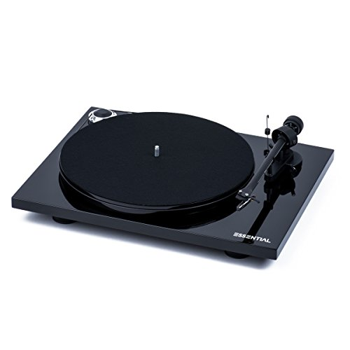 Pro-Ject Essential III Belt-drive Turntable with Ortofon OM10 Cartridge (Piano Black) by Pro-Ject
