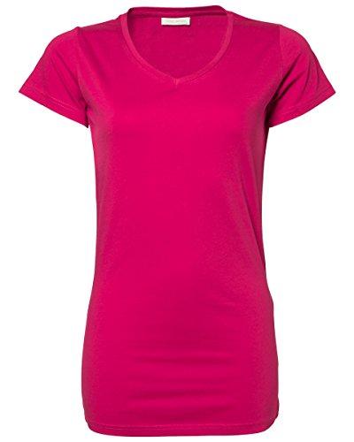 Tee Jays Tee Jays señoras Stretch Camiseta Extra Larga [TJ455] Hot Pink