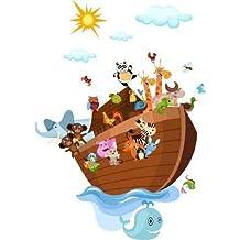 "Wallmonkeys Noah's Ark - 60""H x 43""W - Peel and Stick Wall Decal"