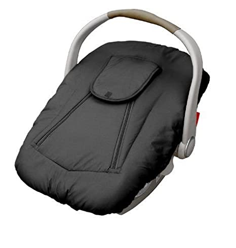 Jolly Jumper Arctic Sneak-A-Peek Infant CarSeat Cover With Attached Blanket, Weatherproof - Black 434-84