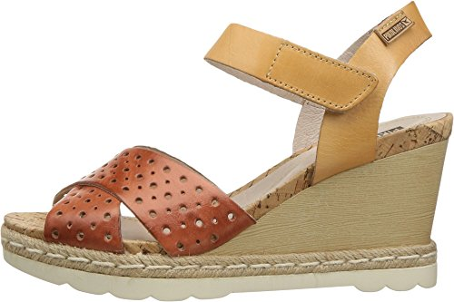 Women's Bali Pikolinos 0952 Flamingo Camel Sandals Wedge W3L High Heel qOqr46w