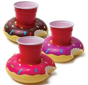 TOLTOL Inflatable Drink Holders, 10 Packs Floats Cup Holders Pool Cup Holders Drink Floats Inflatable Cup Coasters for Pool Party Kids Bath Toys