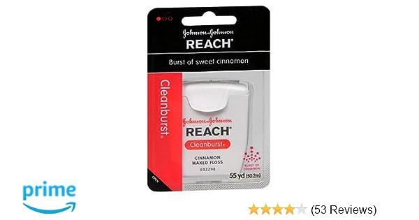 Amazon.com : Johnson and Johnson Reach Clean Burst Waxed Floss, Cinnamon, 6 Count : Beauty