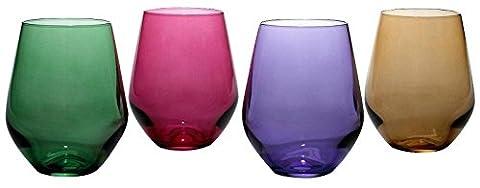 Lenox Tuscany Harvest Crystal 4-piece Red Wine Tumbler - Lenox Crystal