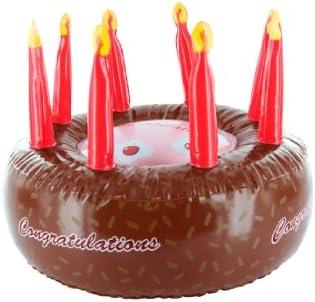 Present Time - Tarta de cumpleaños hinchable (PVC): Amazon.es: Hogar