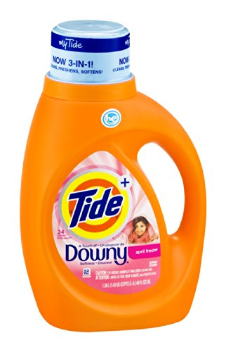 Tide + Downy Detergent April Fresh - 24 Loads 46 OZ (Pack of 6) by Tide