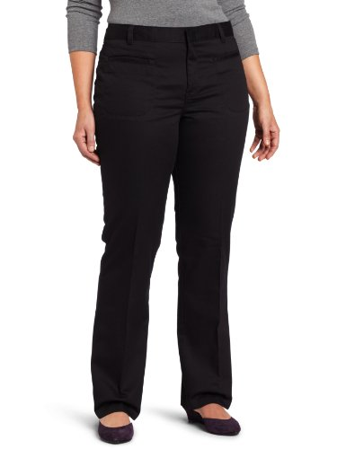 Dickies Juniors Stretch Welt Pocket Flare Bottom Pant, Black, 0