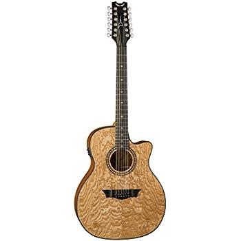 Dean E UQA12 GN Exotica Ultra Quilt Ash 12-String Acoustic-Electric Guitar, Gloss Natural
