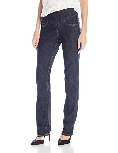 Jag Jeans Women's Peri Straight Pull on Jean, Late Night, 10
