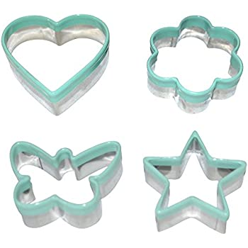 My Kitchen Mate Stainless Steel Cookie Cutter Set of 4 - Star Heart Butterfly Flower Mini Shapes – Biscuit Cutter - Sandwich Cutter - Vegetable Cutter – Food Cutter For Kids & Adults Buy Now