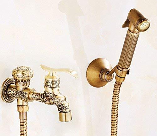 JingJingnet シャワーヘッドキット浴室ハンドヘルド節水シャワーアンティーク銅圧力シャワーヘッドスプレーヘッド浴室レトロトイレスプレー水ですすぐ (Color : I) B07RJLLR3H I