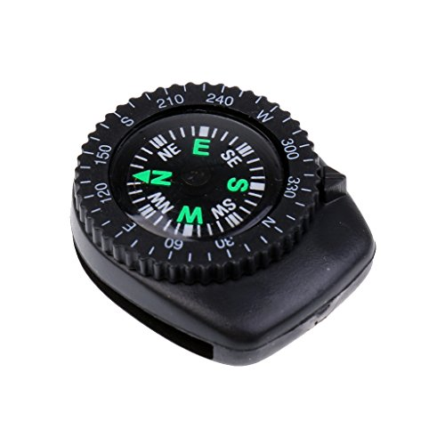 MagiDeal 25mm Mini Portable Precision Watch Band Clip-on Navigation Wrist Compass for Survival Camping Hiking