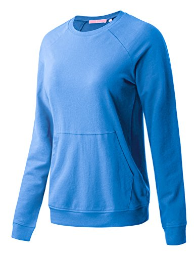 Regna X Women's Long Sleeve Crewneck Cotton Pullover Hooded Sweatshirts for Women by Regna X (Image #1)