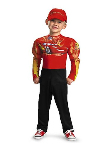 Cars Halloween Costume (Lightning Mcqueen Classic Muscle Costume - Small (4-6))