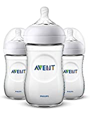 Philips Avent Natural Feeding Bottle 260ml, Pack of 3 – SCF033/37