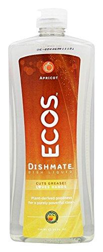 Dishmate Dishwashing - Earth Friendly Products Dishmate, Dishwashing Liquid, Natural Apricot (6-Pack)