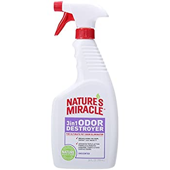 Nature's Miracle 3-in-1 Odor Destroyer, Unscented, 24-Ounce Spray (P-5451)
