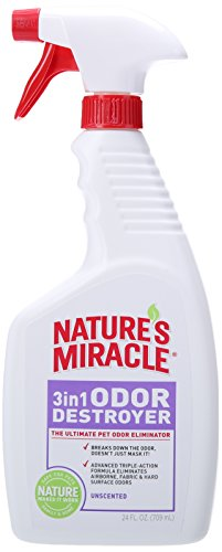 Nature's Miracle 3-in-1 Odor Destroyer, Unscented, 24-Ounce - P-5451